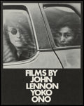 "Movie Posters:Documentary, Films by John Lennon/Yoko Ono (John Lennon/Yoko Ono, 1972). Herald (4.5"" X 6""). This herald was for a collection of short fi..."