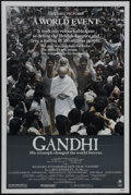 "Movie Posters:Academy Award Winner, Gandhi (Columbia, 1982). One Sheet (27"" X 41""). HistoricalBiography. Starring Ben Kingsley, Candice Bergen, Edward Fox,Joh..."