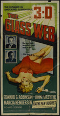 "The Glass Web (MCA/Universal, 1953). Three Sheet (41"" X 81""). Crime. Starring Edward G. Robinson, John Forsyth..."