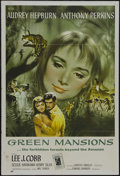"""Movie Posters:Drama, Green Mansions (MGM, 1959). One Sheet (27"""" X 41""""). Drama. StarringAudrey Hepburn, Anthony Perkins, Lee J. Cobb and Henry Si..."""