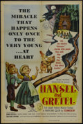 "Movie Posters:Animated, Hansel and Gretel (RKO, 1954). One Sheet (27"" X 41""). Animation. Starring Anna Russell, Mildred Dunnock, Frank Rogier and Co..."