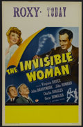 """Movie Posters:Horror, The Invisible Woman (Universal, 1940). Window Card (14"""" X 22""""). Comedy. Curt Siodmak's fluffy comedy about a beautiful model..."""
