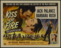 "Movie Posters:Adventure, Kiss of Fire (Universal, 1955). Half Sheet (22"" X 28""). Adventure.Starring Jack Palance, Barbara Rush, Rex Reason and Marth..."