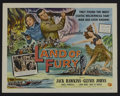 "Movie Posters:Adventure, Land of Fury (Universal, 1955). Half Sheet (22"" X 28"") Style A.Adventure. Starring Jack Hawkins, Glynis Johns, Noel Purcell..."