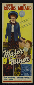 """Movie Posters:Comedy, The Major and the Minor (Paramount, 1942). Insert (14"""" X 36"""").Romantic Comedy. Starring Ginger Rogers, Ray Milland, Rita Jo..."""