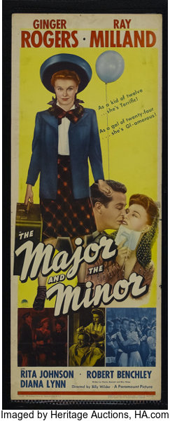"""The Major and the Minor (Paramount, 1942). Insert (14"""" X 36""""). 