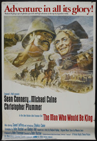 """The Man Who Would Be King (Columbia, 1975). Poster (40"""" X 60""""). Adventure. Starring Sean Connery, Michael Cain..."""