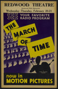 """Movie Posters:Documentary, The March of Time (20th Century-Fox, 1930s). Stock Window Card (14"""" X 22""""). Newsreel. Created by Roy Edward Larsen. Produced..."""