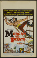 "Movie Posters:Adventure, Morgan the Pirate (MGM, 1961). Window Card (14"" X 22""). Adventure.Starring Steve Reeves, Valérie Lagrange, Ivo Garrani and ..."