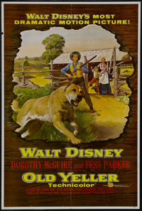 "Old Yeller (Buena Vista, 1957). One Sheet (27"" X 41""). Family Drama. Starring Dorothy McGuire, Fess Parker, To..."