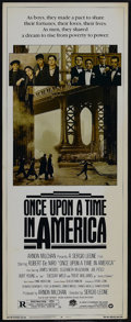 "Movie Posters:Crime, Once Upon a Time in America (Warner Brothers, 1984). Insert (14"" X36""). Crime. Starring Robert De Niro, James Woods, Burt Y..."