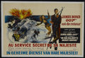 "Movie Posters:Action, On Her Majesty's Secret Service (United Artists, 1969). Belgian(14"" X 22""). Action. Starring George Lazenby, Diana Rigg, Te..."