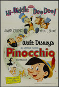 """Movie Posters:Animated, Pinocchio (Buena Vista, R-1971). One Sheet (27"""" X 41""""). Animated. Starring the voices of Dick Jones and Cliff Edwards. Direc..."""