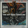 "Movie Posters:Drama, The Spy Who Loved Me (United Artists, 1976). Six Sheet (81"" X 81""). Spy Thriller. Starring Roger Moore, Barbara Bach, Curt J..."