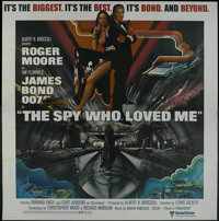 """The Spy Who Loved Me (United Artists, 1976). Six Sheet (81"""" X 81""""). Spy Thriller. Starring Roger Moore, Barbar..."""