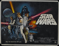 "Star Wars (20th Century Fox, 1977). British Quad (30"" X 40"") Style C. Science Fiction. Starring Harrison Ford..."