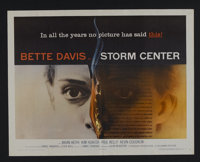 "Storm Center (Columbia, 1956). Half Sheet (22"" X 28""). Drama. Starring Bette Davis, Brian Keith, Kim Hunter an..."