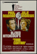 "Movie Posters:Hitchcock, Torn Curtain (Universal, 1966). One Sheet (27"" X 41""). Thriller.Starring Paul Newman, Julie Andrews, Lila Kedrova, Hansjoer..."