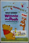 "Movie Posters:Animated, Winnie the Pooh and the Blustery Day (Buena Vista, 1969). One Sheet(27"" X 41""). Animation. Starring Sebastian Cabot, Sterli..."