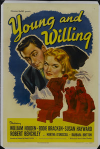 """Young and Willing (United Artists, 1943). One Sheet (27"""" X 41""""). The perennial summer stock comedy """"Out o..."""