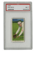 Baseball Cards:Singles (Pre-1930), 1909-11 T206 Fred Beck PSA NM 7. Another chance to get your hand on a high-grade T206, this one coming courtesy of Boston R...