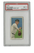 """Baseball Cards:Singles (Pre-1930), 1909-11 T206 Hal Chase Throwing Dark Cap PSA NM 7. """"Dark cap"""" variant of Hal Chase's astounding five entries in the hallowe..."""