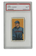 Baseball Cards:Singles (Pre-1930), 1909-11 T206 Harry Gasper PSA NM 7. You'll be hard-pressed to find many T206 cards with better centering than this fine Har...