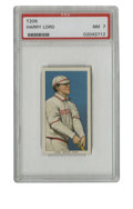 Baseball Cards:Singles (Pre-1930), 1909-11 T206 Harry Lord PSA NM 7. Attractively designed tobacco card is up for grabs here, this time with Red Sox hustler H...