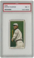 Baseball Cards:Singles (Pre-1930), 1909-11 T206 George McBride PSA NM 7. Long-time fixture for the Washington Senators George McBride is the subject of the of...