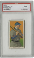 Baseball Cards:Singles (Pre-1930), 1909-11 T206 Dots Miller Pittsburg PSA NM 7. Few card issues can match the outstanding aesthetic appeal that the T206 tobac...