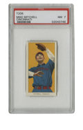 Baseball Cards:Singles (Pre-1930), 1909-11 T206 Mike Mitchell Cincinnati PSA NM 7. Four razor-sharp corners and tremendous color handling allow this card to r...