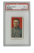 Baseball Cards:Singles (Pre-1930), 1909-11 T206 George Mullin (MULLEN) PSA NM 7. Erroneously misspelled surname of George Mullin is what this high-grade T206 ...