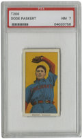 Baseball Cards:Singles (Pre-1930), 1909-11 T206 Dode Paskert PSA NM 7. Yet another beautiful Near Mint T206 card is put up for grabs here, this one featuring ...