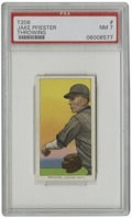 """Baseball Cards:Singles (Pre-1930), 1909-11 T206 Jake Pfiester Throwing PSA NM 7. Jake Pfiester, whose name is misspelled """"PFIESTER"""" in the T206 issue, has bee..."""