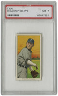Baseball Cards:Singles (Pre-1930), 1909-11 T206 Deacon Phillippe PSA NM 7. Pirates ace Deacon Phillippe won 13 straight games around the time of this card's i...