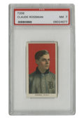 Baseball Cards:Singles (Pre-1930), 1909-11 T206 Claude Rossman PSA NM 7. Adding to the seemingly endless barrage of high-grade T206 singles up for grabs in th...