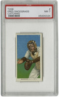 """Baseball Cards:Singles (Pre-1930), 1909-11 T206 Fred Snodgrass Catching PSA NM 7. The """"Catching"""" variant of Fred Snodgrass' two entries in the hallowed T206 i..."""