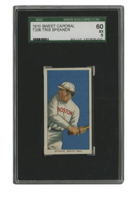 1909-11 T206 Tris Speaker SGC EX 60. Tremendously skilled with the bat and more than able patrolling center field, Tris...
