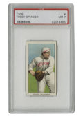 Baseball Cards:Singles (Pre-1930), 1909-11 T206 Tubby Spencer PSA NM 7. Admitted alcoholic Tubby Spencer was in and out of baseball due to his vice, even reso...
