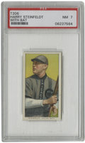 """Baseball Cards:Singles (Pre-1930), 1909-11 T206 Harry Steinfeldt with Bat PSA NM 7. The strong-armed Harry Steinfeldt is depicted quite gracefully in his """"wit..."""