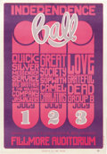 "Music Memorabilia:Posters, Quicksilver Messenger Service ""Independence Ball"" Fillmore ConcertPoster, BG-14 (Bill Graham, 1966). Not just Quicksilver,... (Total:1 Item)"