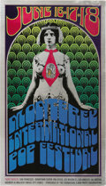 Music Memorabilia:Posters, Monterey International Pop Festival Poster (1967). Jimi Hendrix,fresh from London, where the transplanted American was dis...(Total: 1 Item)