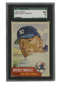 Baseball Cards:Singles (1950-1959), 1953 Topps Mickey Mantle #82 SGC VG 40. Easily one of the mostpopular and recognizable cards in the hobby, the '53 Topps M...