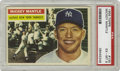 Baseball Cards:Singles (1950-1959), 1956 Topps Mickey Mantle #135 PSA EX-MT 6. Great early Mantle cardis easily among the most desirable of the slugger, espec...