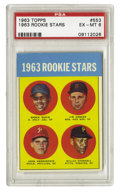 Baseball Cards:Singles (1960-1969), 1963 Topps Willie Stargell Rookie #553 PSA EX-MT 6. The 1963 Topps card we see here focuses on some of the league's brighte...