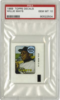 Baseball Cards:Singles (1960-1969), 1969 Topps Decals Willie Mays PSA Gem Mint 10. One of only eight Willie Mays entries in the 1969 Topps Decals issue that ha...