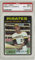 Baseball Cards:Singles (1970-Now), 1971 Topps Roberto Clemente #630 PSA NM-MT 8. Impressive example ofClemente's entry in the '71 Topps issue, a set notoriou...