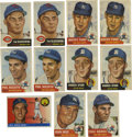 Baseball Cards:Lots, 1953-55 Topps Baseball Group Lot of 213. Tremendous grouping ofover 200 cards from the popular Topps issues of the mid-195...