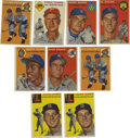 Baseball Cards:Lots, 1954 Topps Baseball Group Lot of 59. From one of the most importantpost-war baseball issues that was produced we present th...