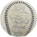 Autographs:Baseballs, 1998 New York Yankees Team Signed Baseball. Twenty-two from the1998 New York Yankees have applied top-notch signatures to ...